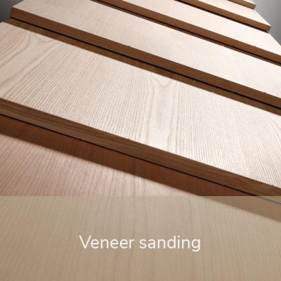 veneer sanding